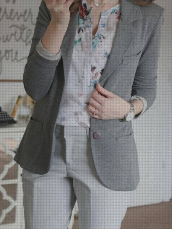 10 Mejores Blazer Gris Mujer